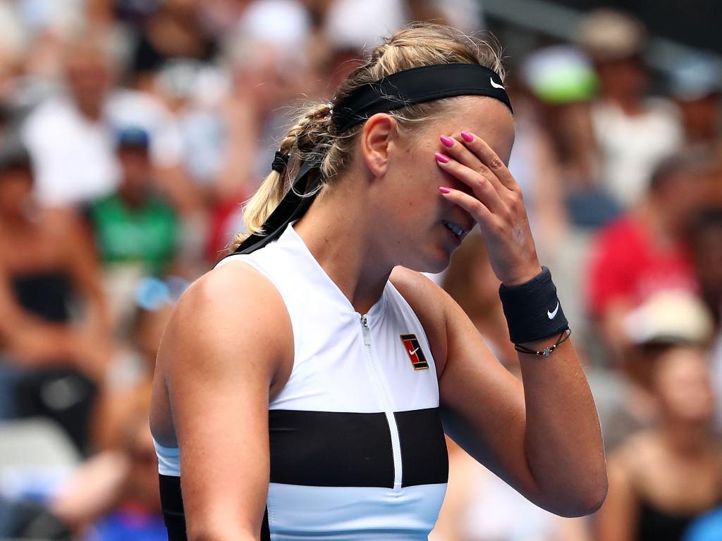 "Victoria Azarenka admitted she is ""struggling"""