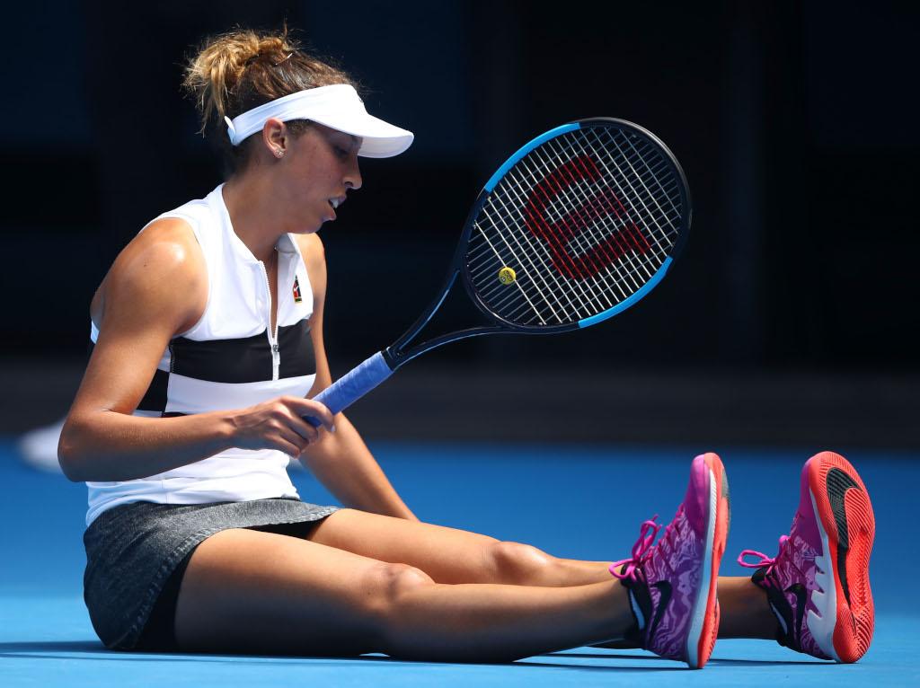Madison Keys slipping