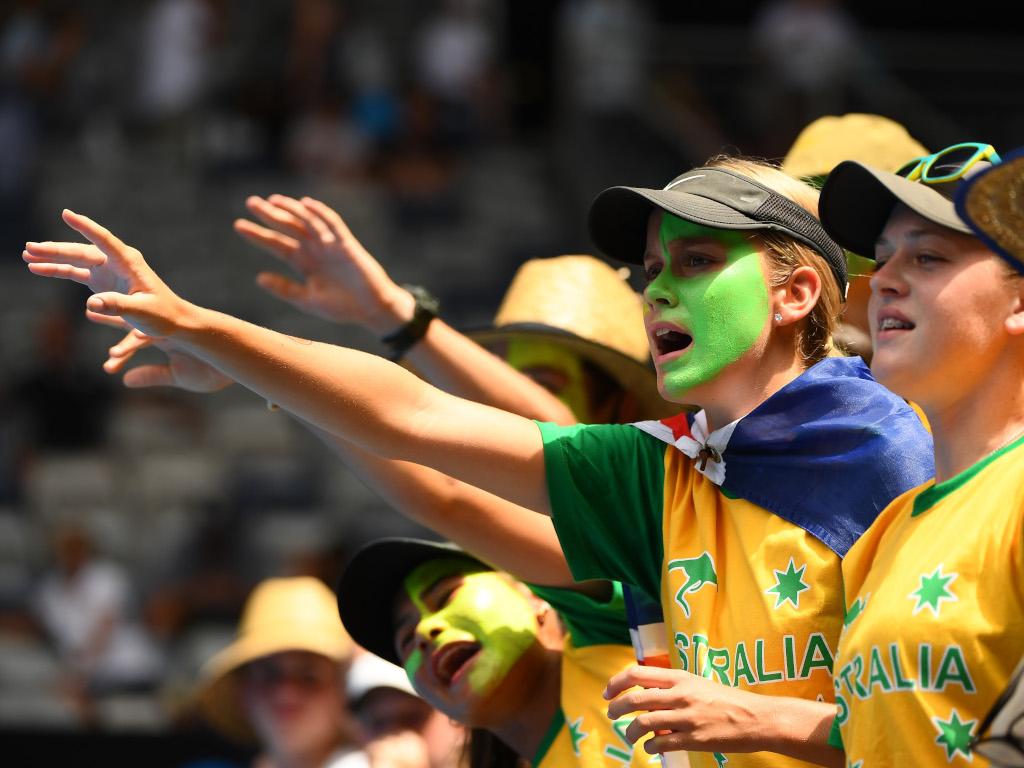 Australian Open fans