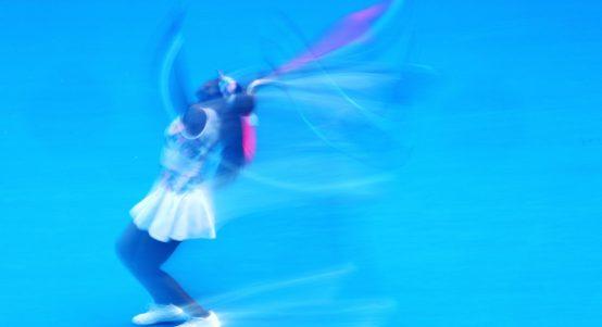 Venus Williams serving