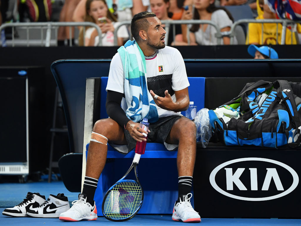 Nick Kyrgios changeover