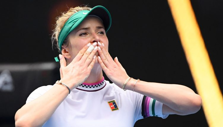 Elina Svitolina blowing kisses