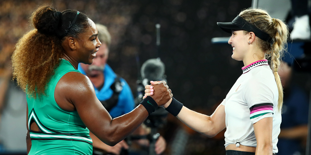Serena Williams defeats Eugenie Bouchard at Australian Open