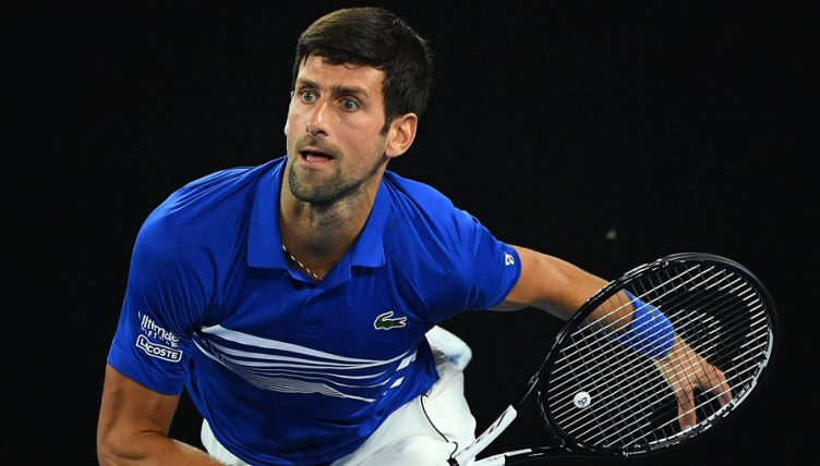 Novak Djokovic in action at the Australian Open
