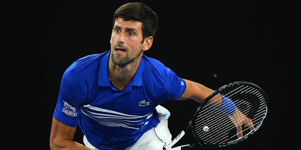 Novak Djokovic in action at the Australian Open
