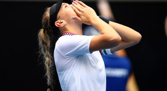 Amanda Anisimova sees off Aryna Sabalenka to make tennis history