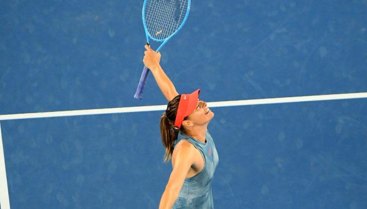 Maria Sharapova sends defending champion Caroline Wozniacki packing