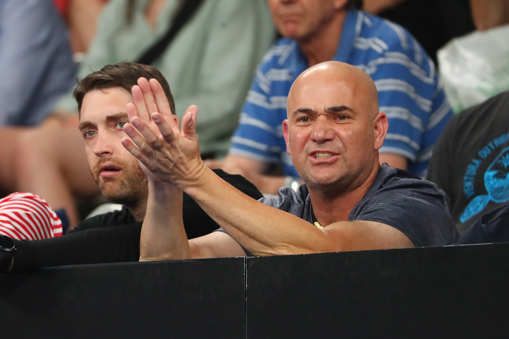 Andre Agassi at Australian Open