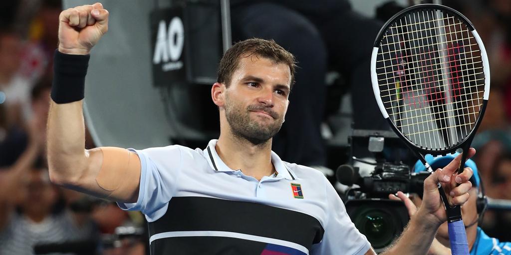 Grigor Dimitrov celebrates