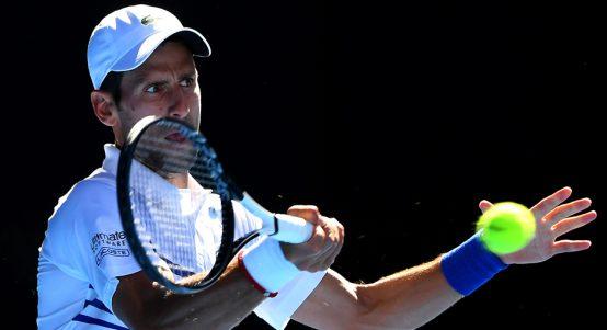 Novak Djokovic Australian Open forehand
