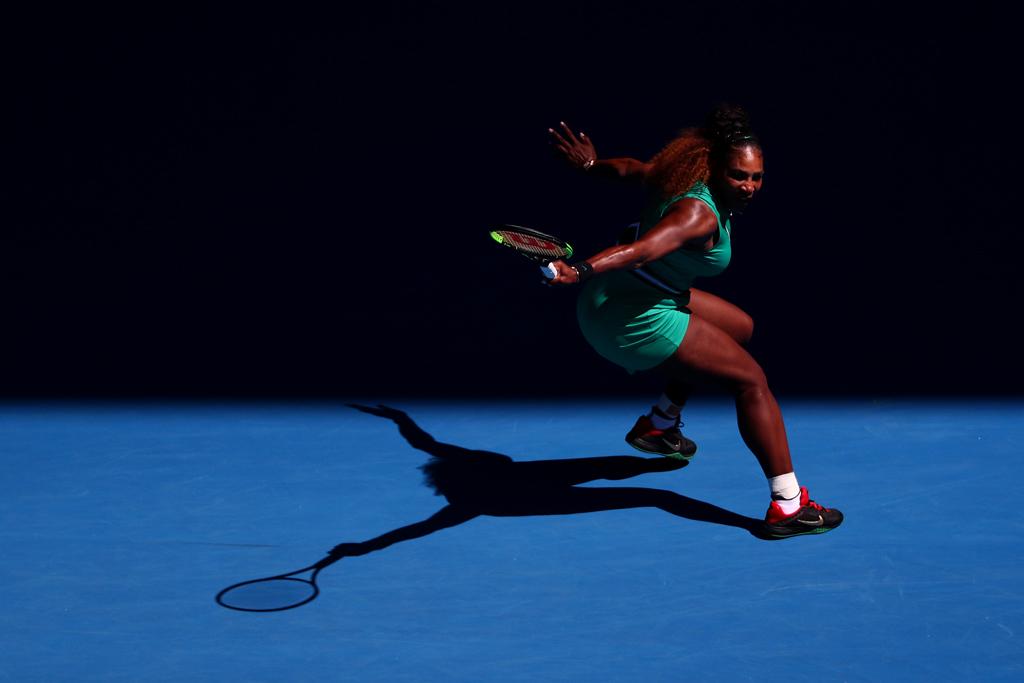 Serena Williams in action at Australian Open