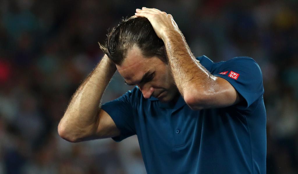 Roger Federer in action