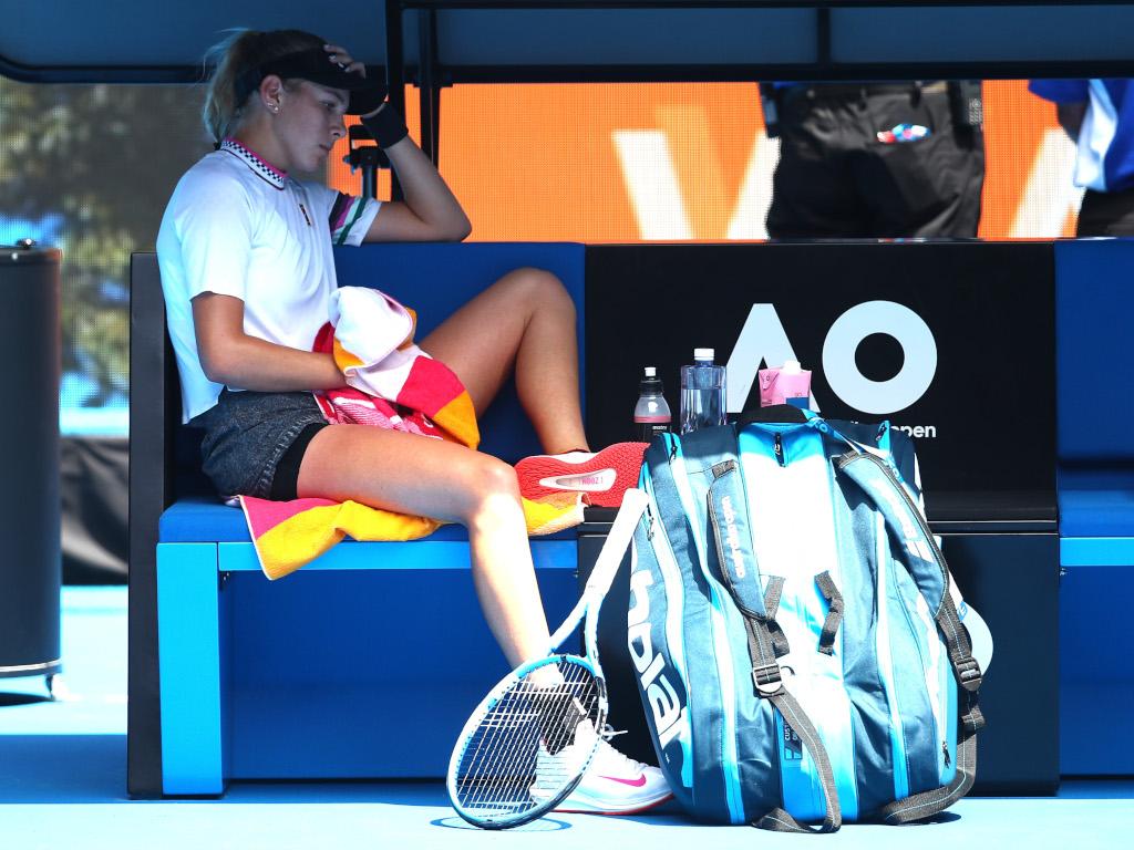 Amanda Anisimova deep in thought