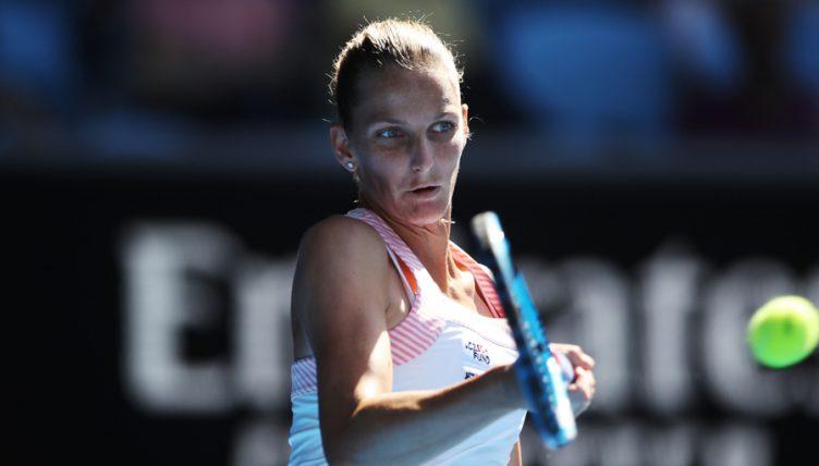 Karolina Pliskova forehand at Australian Open