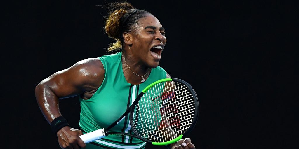 Serena Williams reacts to Australian Open win