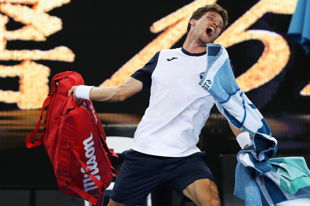 Pablo Carreno Busta in rage after Kei Nishikori defeat