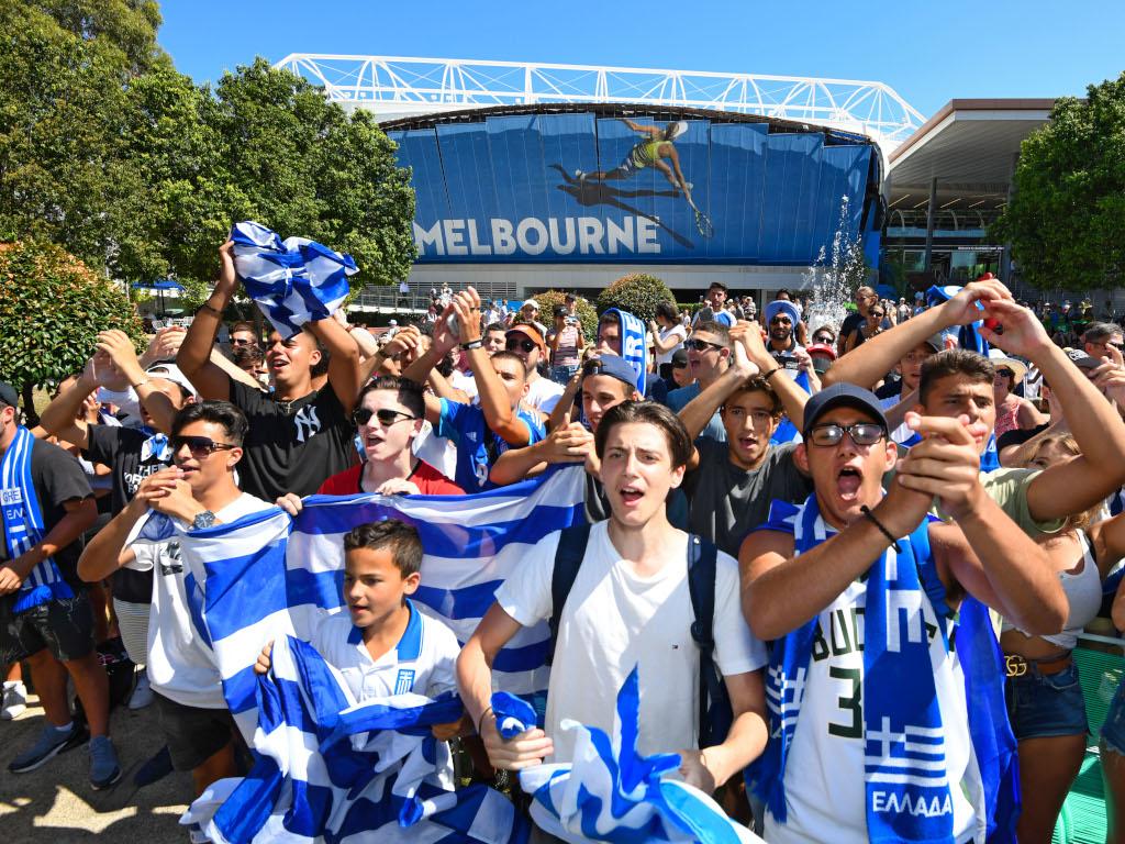 Greek fans at the Australian Open