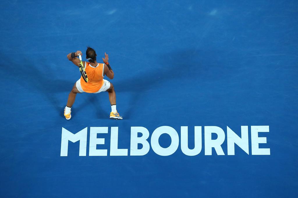 Rafael Nadal at Melbourne Park