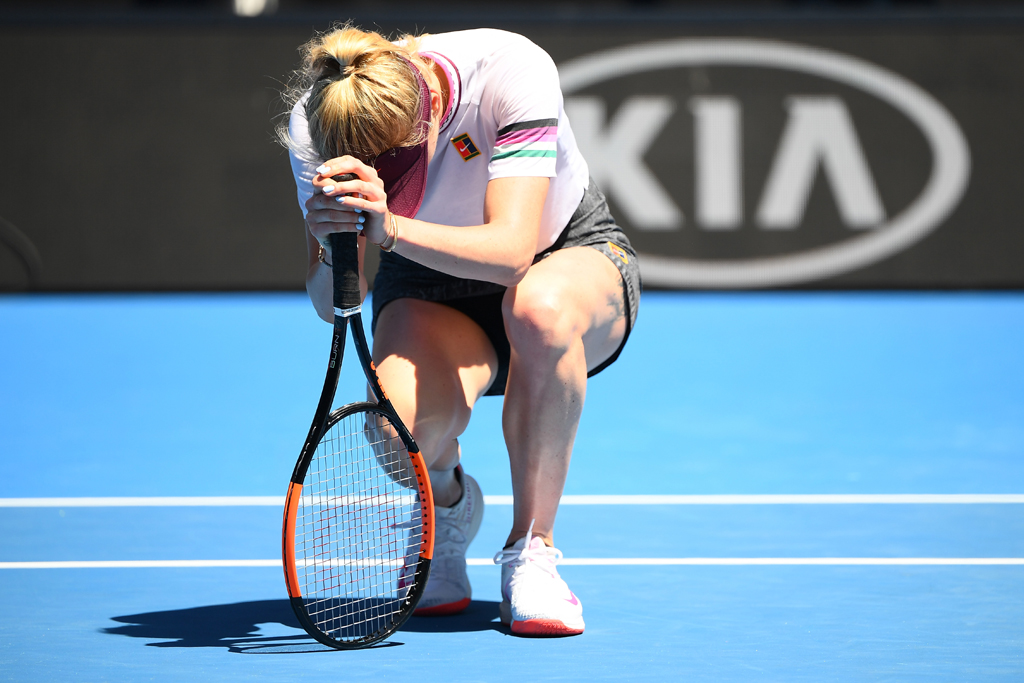Elina Svitolina on knees