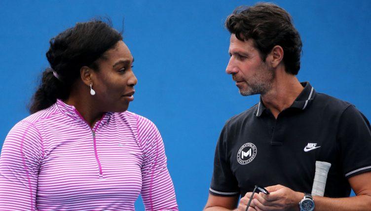Serena Williams and coach Patrick Mouratoglou