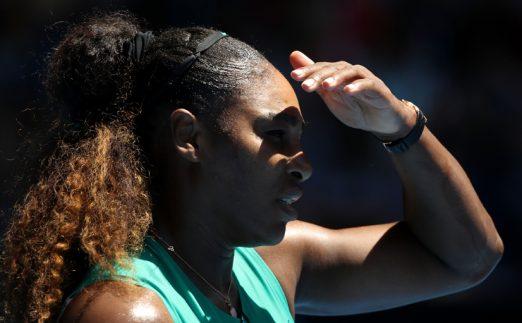 Serena Williams sun in eyes
