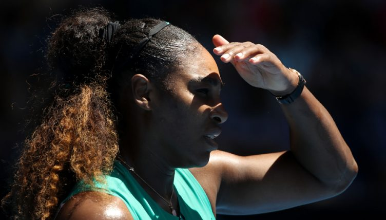 Serena Williams sun in eyes