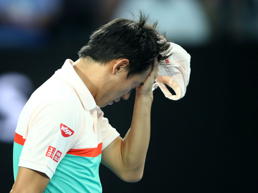 Kei Nishikori medical timeout