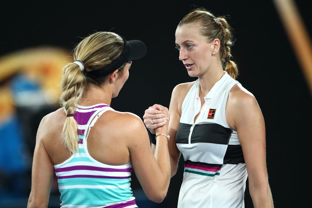 Petra Kvitova and Danielle Collins