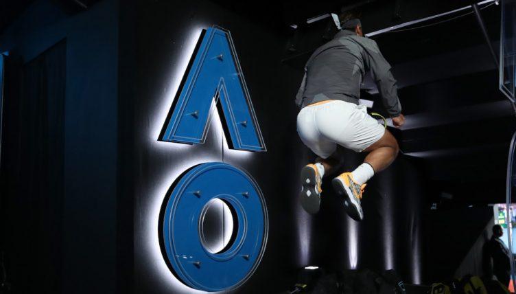 Rafael Nadal jumping