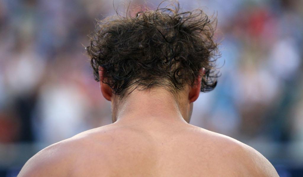 Rafael Nadal shirtless