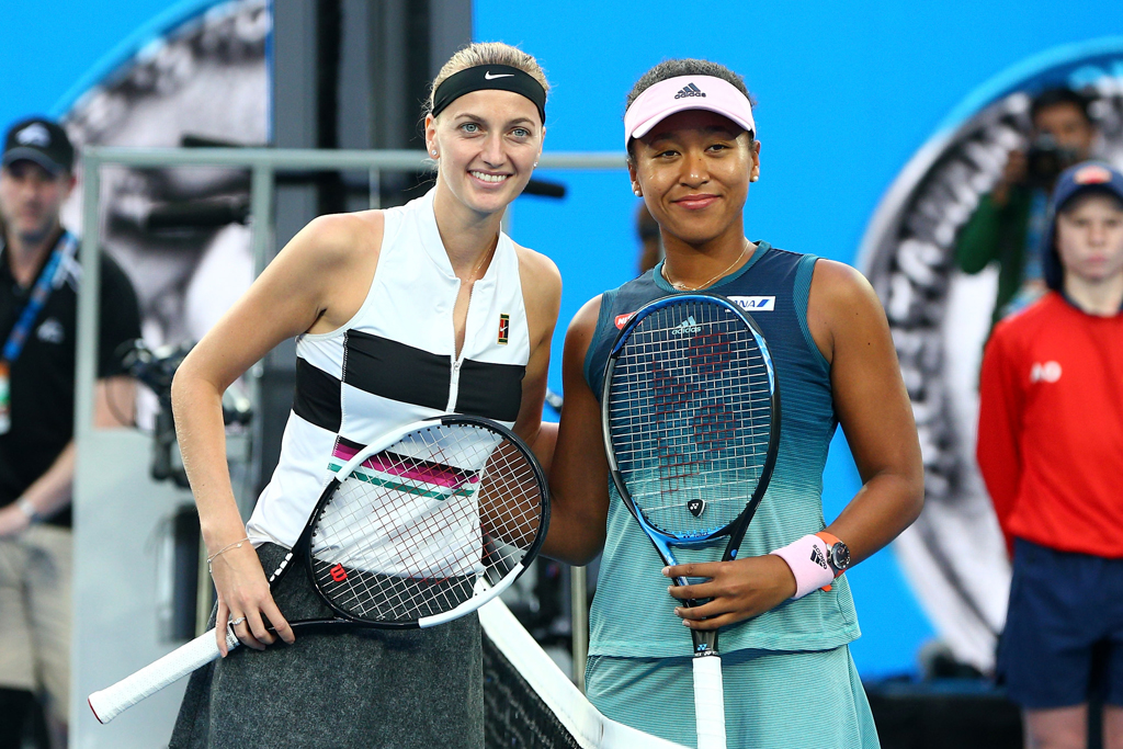 Naomi Osaka and Petra Kvitova