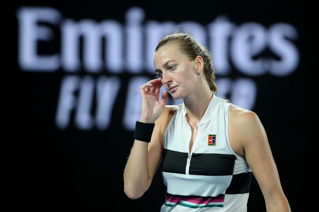 Petra Kvitova dejected
