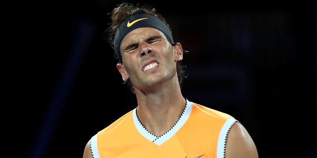 Rafael Nadal frustrated