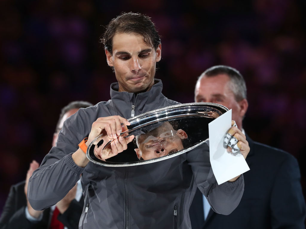 Rafael Nadal runner-up trophy