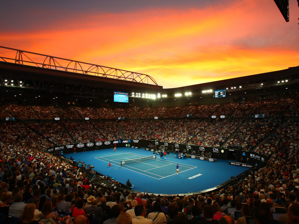 Sun sets on Melbourne Park Australian Open