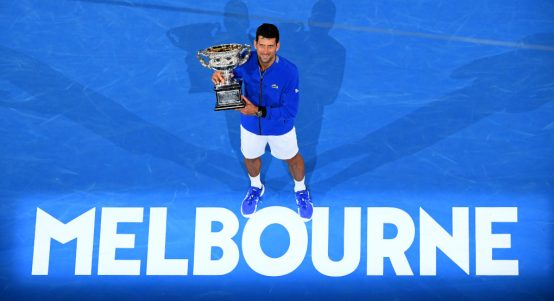 Australian Open winner Novak Djokovic