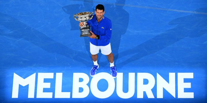 Australian Open winner Novak Djokovic