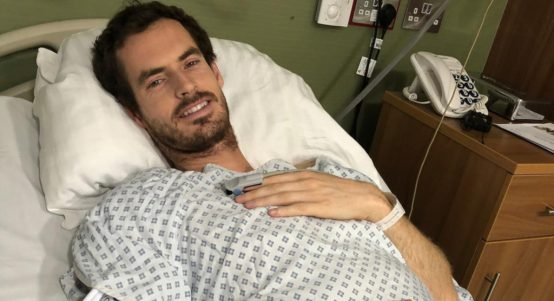 Andy Murray after hip surgery