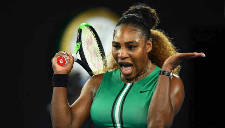 Serena Willliams in action