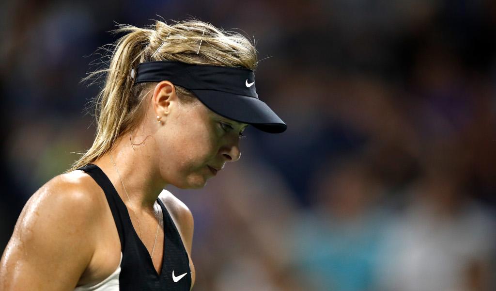 Maria Sharapova despondent