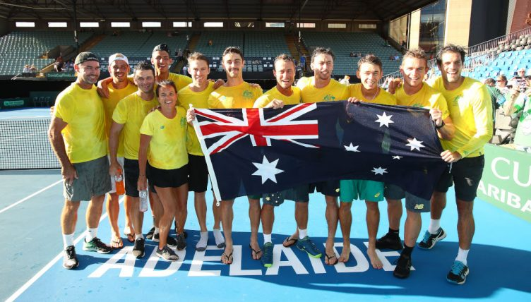 Australia Davis Cup celebrations