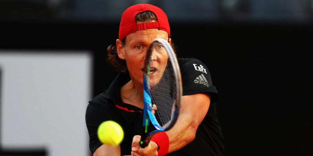 Tomas Berdych in action