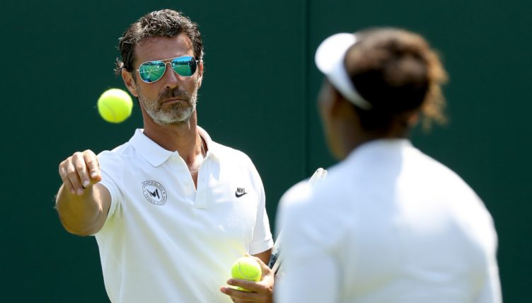 Patrick Mouratoglou and Serena Williams practice