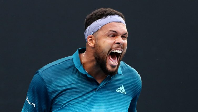 Jo-Wilfried Tsonga shouting