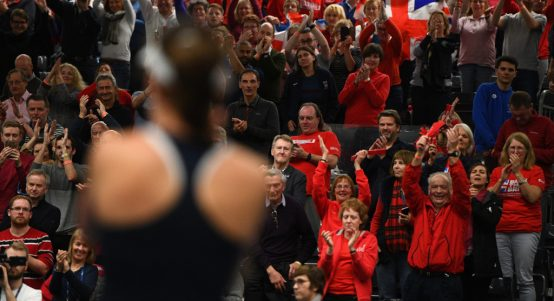 Johanna Konta Great Britain Fed Cup celebrations
