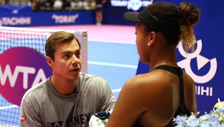 Sascha Bajin coaching Naomi Osaka
