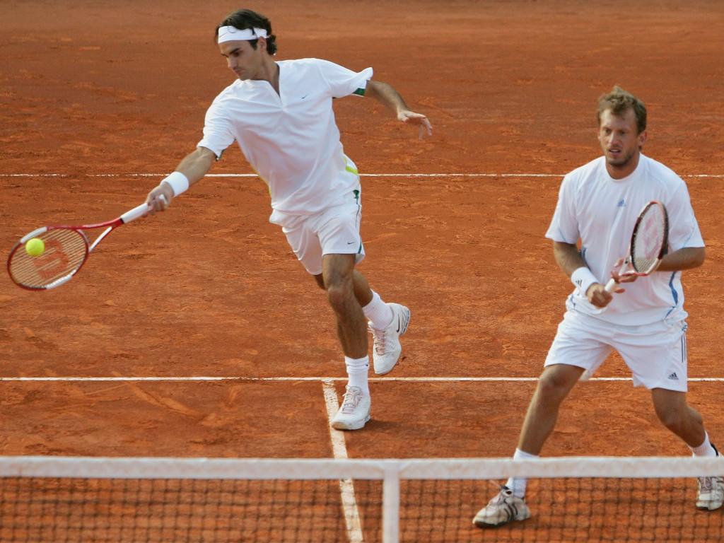 Roger Federer and Yves Allegro doubles