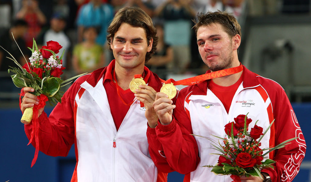 Roger Federer and Stan Wawrinka win Olympic doubles gold