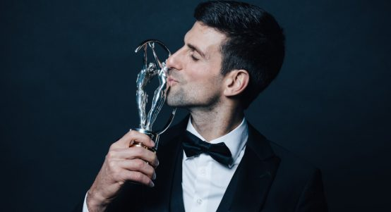 Novak Djokovic with Laureus World Sports Award
