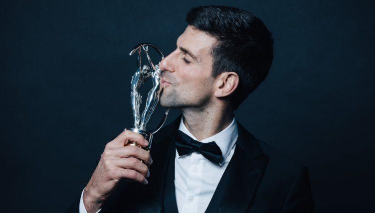 Novak Djokovic with Laureus World Sports Award